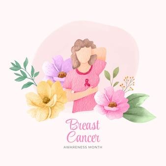 수채화 유방암 인식의 달 그림
