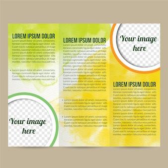 Watercolor brochure