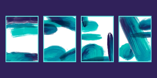 水彩ブラシ ストローク カバー コレクション