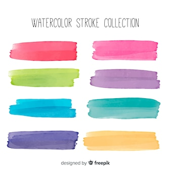 Watercolor brush stroke pack