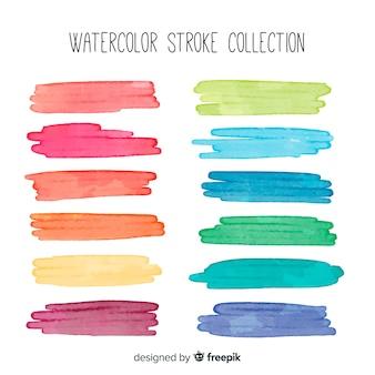 Watercolor brush stroke pack