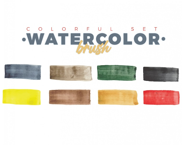 Watercolor brushes collection