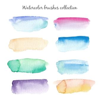 Watercolor brushes set.