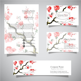 Watercolor business vector collection