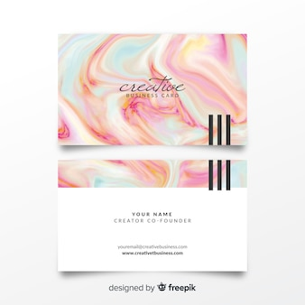 Watercolor bussines card template