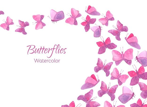 수채화 나비