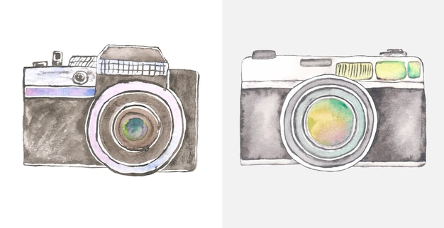 Watercolor camera art