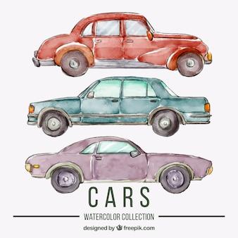 Watercolor car collection