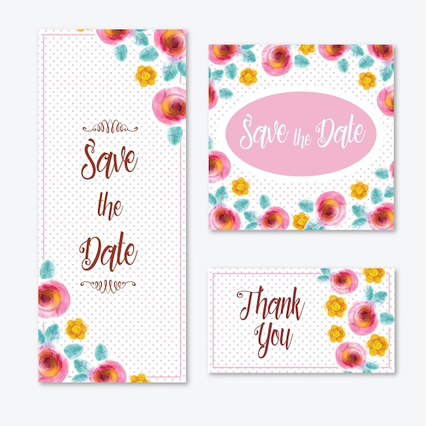 Акварельные открытки с цветами