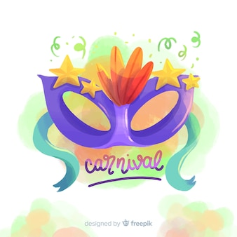Watercolor carnival background