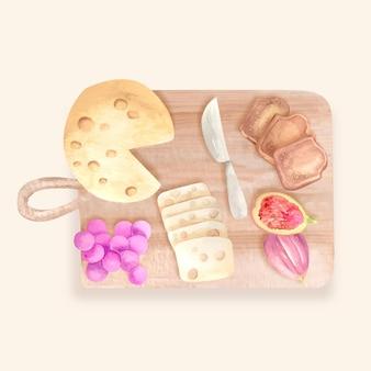 水彩チーズボード