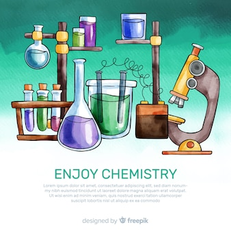 Watercolor chemistry background