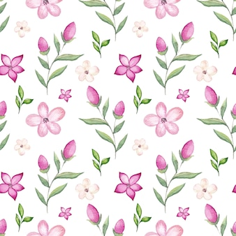 Watercolor cherry blossom pattern