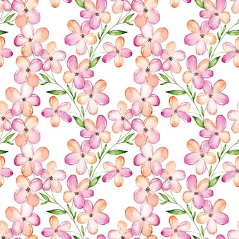 Watercolor cherry blossom  seamless pattern
