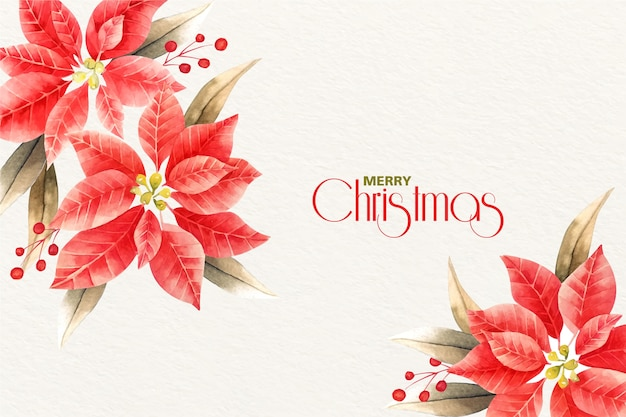 Watercolor christmas background concept