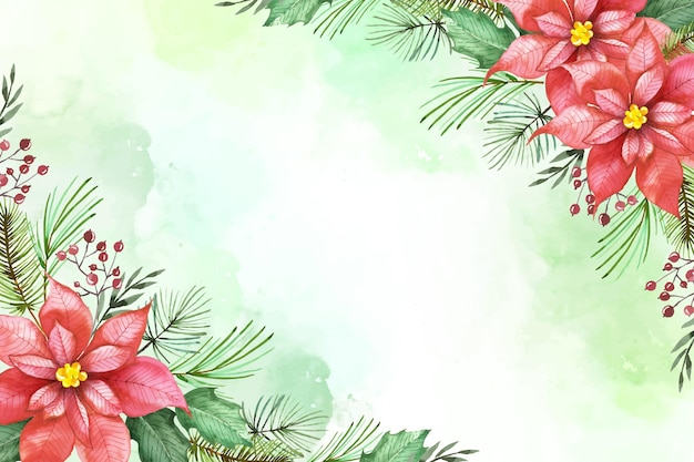 水彩クリスマス背景デザイン