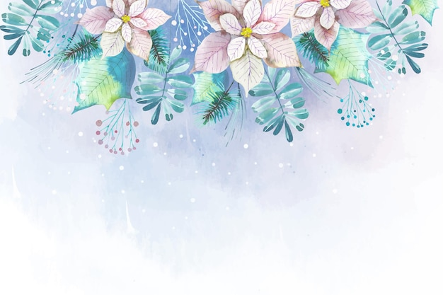 Watercolor christmas background theme
