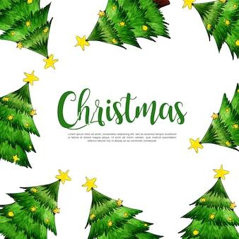 Акварель рождество фона