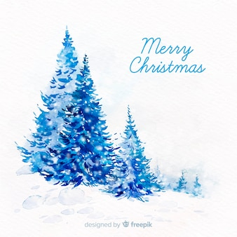 Watercolor christmas background