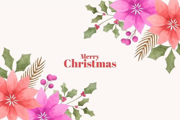 수채화 크리스마스 배경