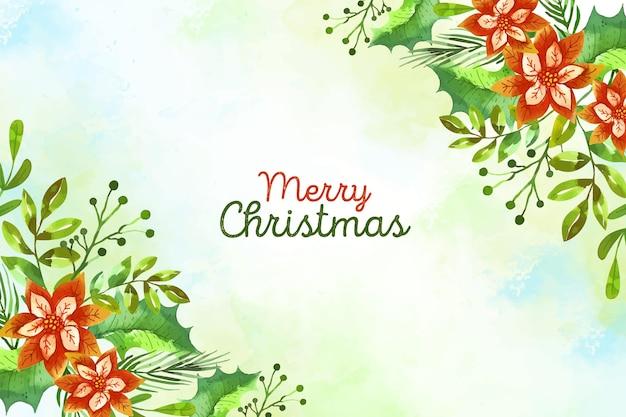 水彩のクリスマスの背景