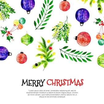 Watercolor christmas backgrounds