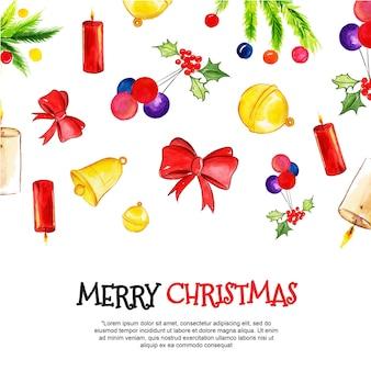 水彩クリスマスの背景