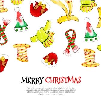 Акварельные рождественские фоны