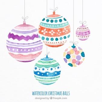 水彩クリスマスボール