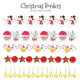 Коллекция акварельных рождественских каникул