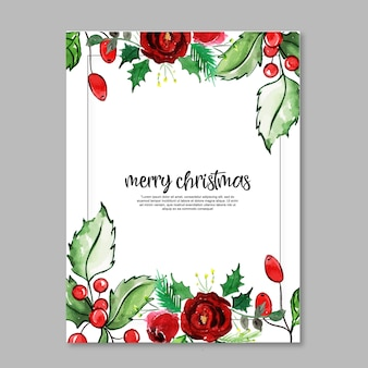 水彩クリスマスカード