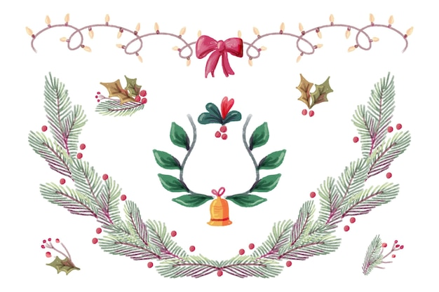 Decorazione natalizia dell'acquerello