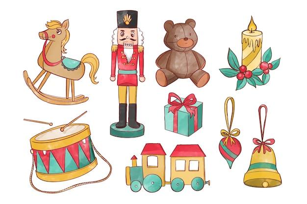 수채화 크리스마스 요소 컬렉션