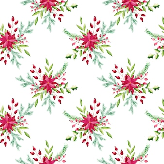 Watercolor christmas floral