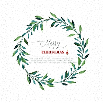 Watercolor christmas frame design