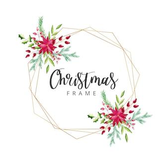 Акварель рождественская рамка