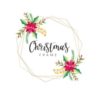 Watercolor christmas frame