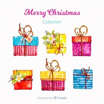Watercolor christmas gift set