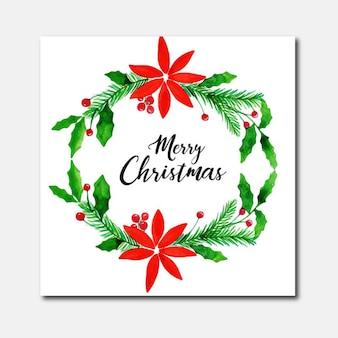 Watercolor Christmas Greeting Card