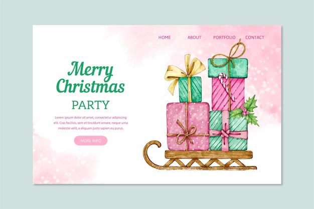 Акварельная рождественская целевая страница