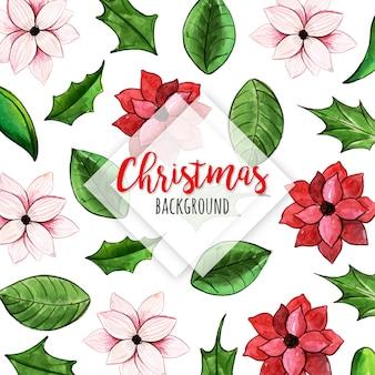 수채화 크리스마스 패턴 배경