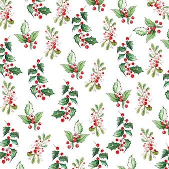 Watercolor christmas pattern backgrounds