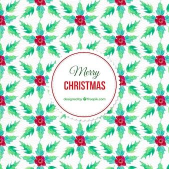 미 슬 토와 수채화 크리스마스 패턴
