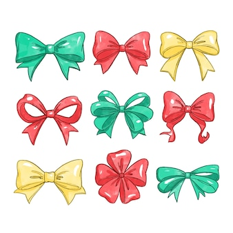 Watercolor christmas ribbon collection