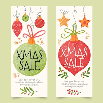 Watercolor christmas sale banners
