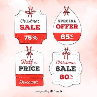 Watercolor christmas sale labels