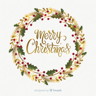 Christmas wreath rustic. Vectors photos and psd