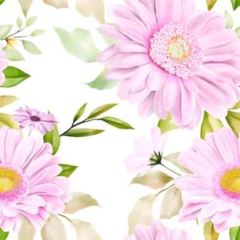 Акварель хризантема бесшовные модели