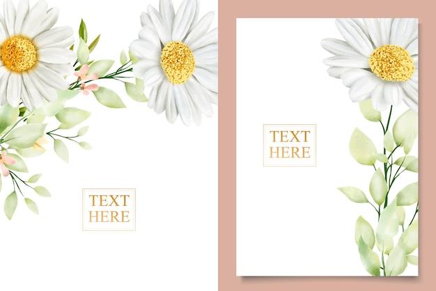 水彩菊のウェディングカードセット