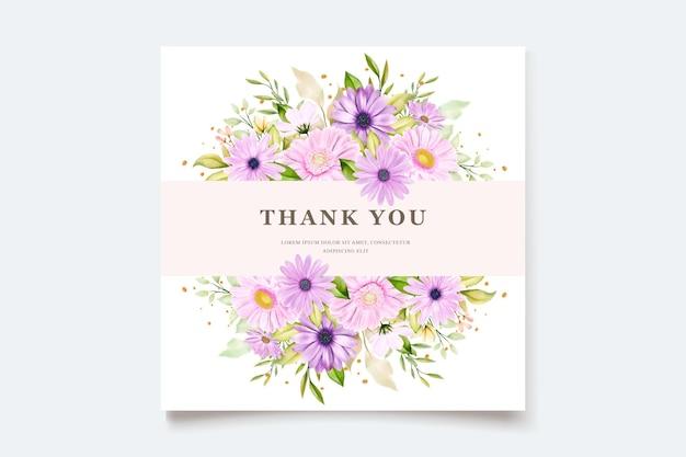 水彩菊のウェディングカード